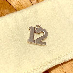 James Avery number # 12 twelve charm